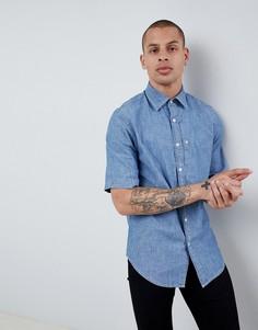 Джинсовая рубашка с короткими рукавами G-Star Bristum - Синий