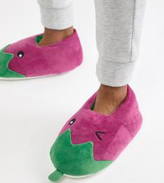 Слиперы с дизайном в виде баклажанов ASOS DESIGN - Фиолетовый