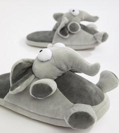 Серые слипперы с отделкой в виде слона ASOS DESIGN - Серый