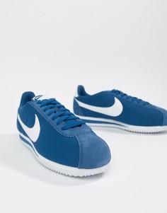 Синие нейлоновые кроссовки Nike Classic Cortez 807472-406 - Синий