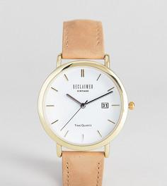 Часы с замшевым ремешком Reclaimed Vintage Inspired эксклюзивно для ASOS - Рыжий