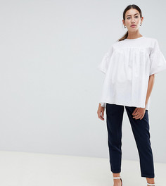 Брюки-галифе с поясом ASOS DESIGN Maternity - Темно-синий