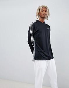 Черный топ с принтом на спине adidas Originals B-Side D76309 - Черный