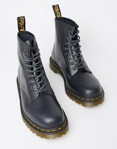Темно-синие ботинки с 8 парами люверсов Dr.Martens 1460 - Темно-синий