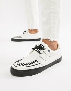Белые кожаные кеды-криперы T.U.K VLK - Белый