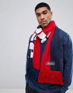 Темно-синий шарф колор блок ellesse Leppy - Темно-синий