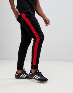Черные джоггеры с полосками по бокам New Look - Черный