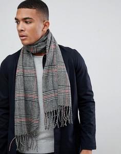 Черный шарф в клетку New Look - Черный