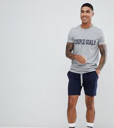 Пижама с надписью couple goals ASOS DESIGN - Серый