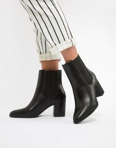 Черные ботинки челси на блочном каблуке River Island - Черный