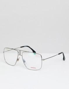 Солнцезащитные очки-авиаторы с прозрачными стеклами Carrera - Черный