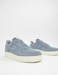 Синие замшевые кроссовки Nike Air Force 1 07 AO3835-400 - Синий