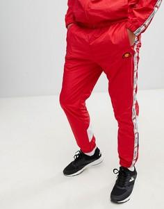 Красные джоггеры с отделкой лентой ellesse Avico - Красный