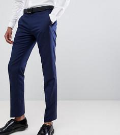 Облегающие льняные брюки Farah exclusive - Темно-синий
