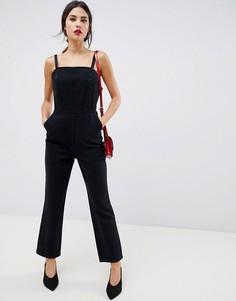 Черный выбеленный джинсовый комбинезон ASOS DESIGN - Черный