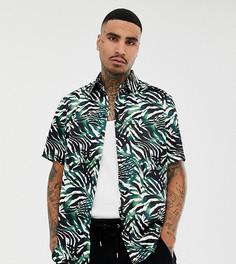 Рубашка с пальмовым принтом Milk It Vintage - Белый