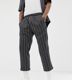 Свободные укороченные брюки в полоску Milk It Vintage - Темно-синий