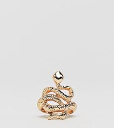 Кольцо со змеей DesignB London - Золотой
