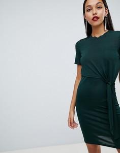 Платье с поясом Y.A.S - Зеленый