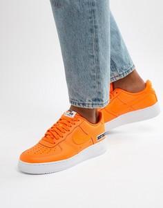 Оранжевые кроссовки Nike Air Force 1 07 BQ5360-800 - Оранжевый