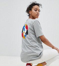 Серая футболка с логотипом Converse - Серый