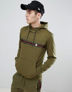 Худи с полоской на груди Le Breve - Зеленый