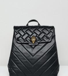 Черный миниатюрный кожаный рюкзак со стеганой отделкой Kurt Geiger Kensington - Черный
