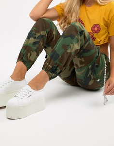 Белые кроссовки на платформе Superga 2802 - Белый