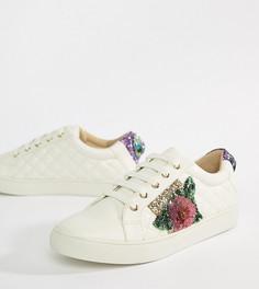 Белые кроссовки с цветочной отделкой Kurt Geiger Lily - Белый