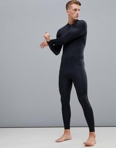 Компрессионное боди со сплошным принтом логотипа Calvin Klein Performance - Черный