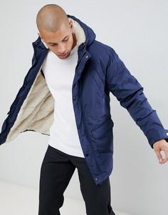 Темно-синяя куртка на флисовой подкладке River Island - Темно-синий