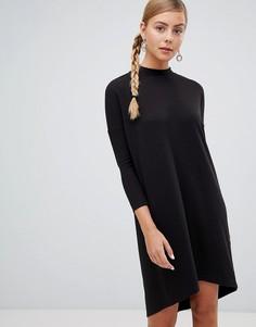 Трикотажное oversize-платье Monki - Черный