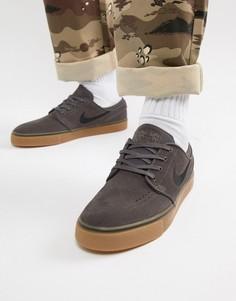 Серые кроссовки Nike SB Zoom Stefan Janoski 333824-069 - Серый