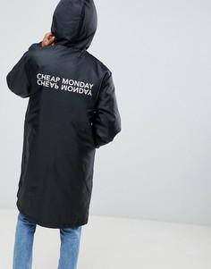 Дождевик с логотипом на спине Cheap Monday - Черный
