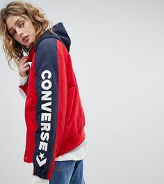 Красная куртка с логотипом на рукаве Converse - Красный