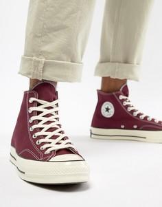 Бордовые высокие кроссовки Converse Chuck Taylor All Star 70 162051C - Красный