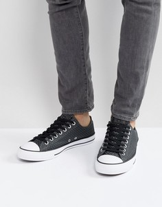 Черные кеды Converse Chuck Taylor All Star Ox 158258C - Черный