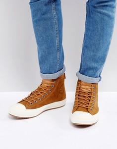 Светло-коричневые высокие кроссовки Converse Chuck Taylor All Star WP 157461C237 - Рыжий