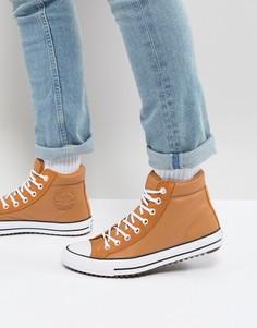 Светло-коричневые высокие кроссовки Converse Chuck Taylor All Star 157494C237 - Рыжий
