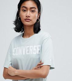 Футболка бледно-голубого цвета с логотипом Converse Essentials - Кремовый