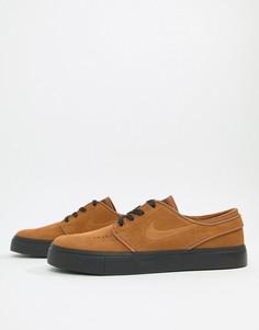 Коричневые замшевые кроссовки Nike SB Zoom Stefan Janoski 333824-218 - Коричневый