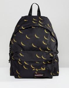 Рюкзак с банановым принтом Eastpak Andy Warhol Pakr - Черный