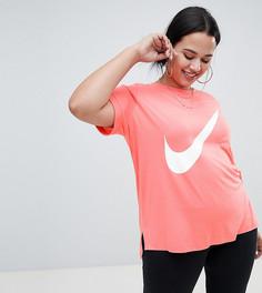 Розовая длинная футболка с логотипом Nike Plus - Розовый