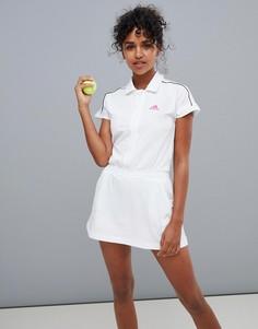 Белое теннисное платье adidas - Белый