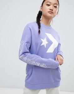 Фиолетовый свитшот Converse - Фиолетовый