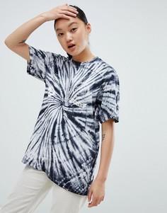 Черная футболка с принтом тай-дай Converse - Мульти