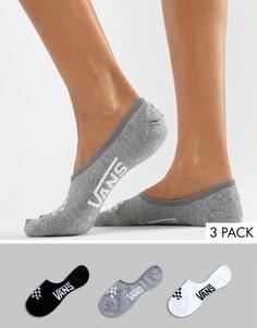 Набор из 3 пар невидимых носков Vans - Мульти