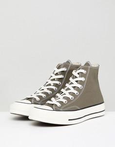 Высокие кеды цвета хаки Converse Chuck 70 - Зеленый