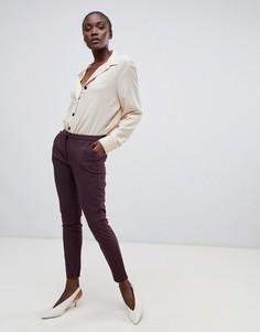 Укороченные брюки Selected Femme - Коричневый