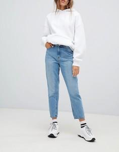 Джинсы в винтажном стиле с завышенной талией и потертостями Only - Синий